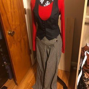 Size 10 New Directions Wide Leg Sailor Pants